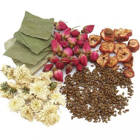 Les 5 Ingrédients de la tisane cholestérol/hypertension