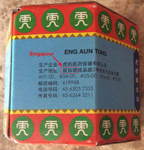 Adresse Singapour